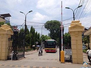 Barrier cổng Học viện Nông Nghiệp